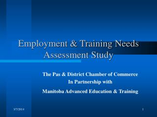 Employment & Training Needs Assessment Study