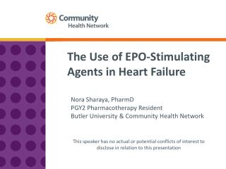 The Use of EPO-Stimulating Agents in Heart Failure