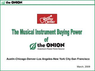 The Musical Instrument Buying Power
