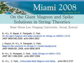 On the Giant Magnon and Spike Solutions in String Theories