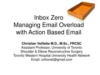 Inbox Zero Managing Email Overload with Action Based Email