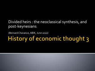 History  of  economic thought  3