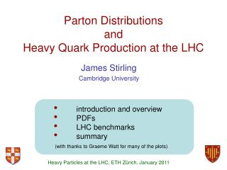 Parton Distributions and Heavy Quark Production at the LHC
