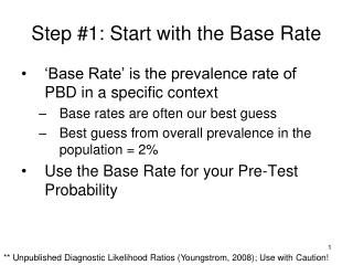 Step #1: Start with the Base Rate