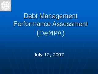 Debt Management  Performance Assessment  ( DeMPA)
