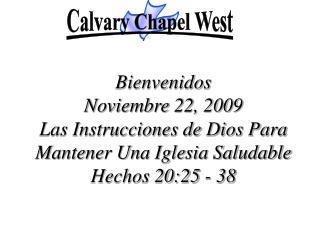 Calvary Chapel West