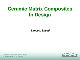 Ceramic Matrix Composites In Design