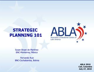 STRATEGIC  PLANNING 101