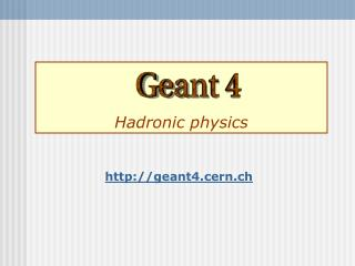 Hadronic physics