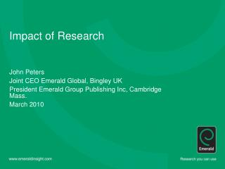 Impact of Research