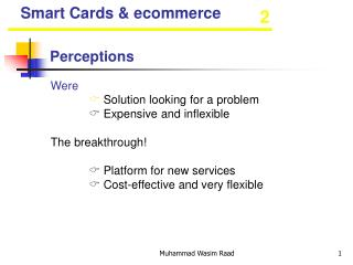 Smart Cards & ecommerce
