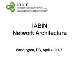 IABIN Network Architecture