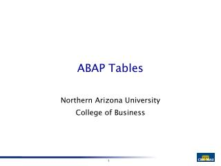 ABAP Tables