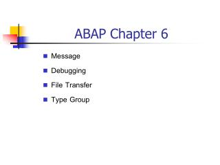 ABAP Chapter 6