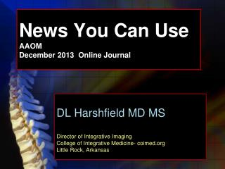 News You Can Use AAOM December 2013 Online Journal