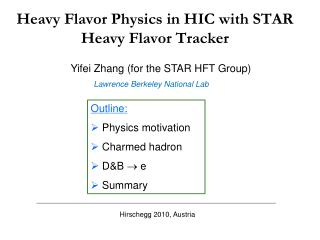 Heavy Flavor Physics in HIC with STAR Heavy Flavor Tracker