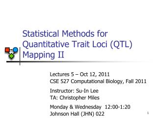 Statistical Methods for Quantitative Trait Loci (QTL) Mapping II