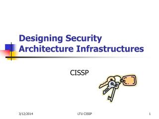 Designing Security Architecture Infrastructures