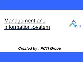 Management and Information System