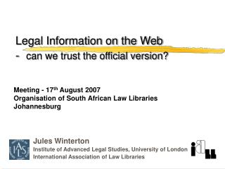Legal Information on the Web  - can we trust the official version?