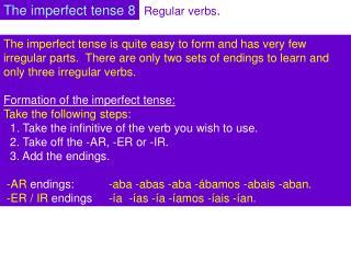 Regular verbs .