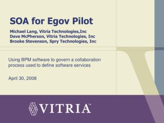 Using BPM software to govern a collaboration process used to define software services