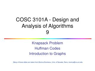 COSC 3101A - Design and Analysis of Algorithms 9