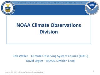 NOAA Climate Observations Division