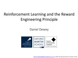 Reinforcement Learning and the Reward Engineering Principle