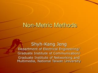 Non-Metric Methods