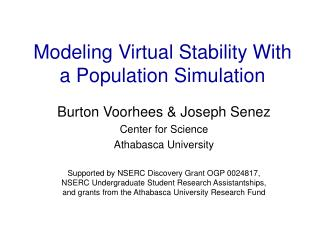 Modeling Virtual Stability With a Population Simulation