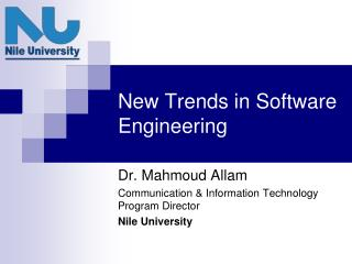 New Trends in Software Engineering