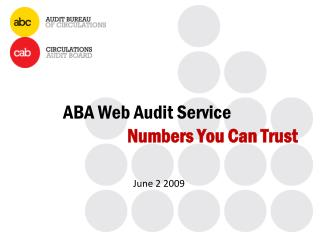 ABA Web Audit Service Numbers You Can Trust