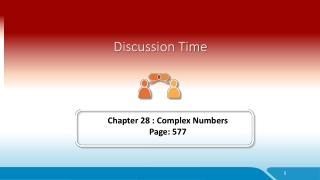 Complex numbers 4