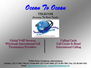 Ocean To Ocean TELECOM Connecting The World Together
