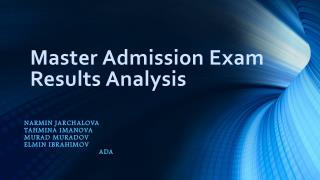 Master Admission Exam Results Analysis