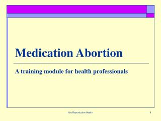 Medication Abortion