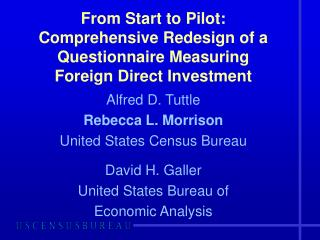 From Start to Pilot: Comprehensive Redesign of a  Questionnaire Measuring  Foreign Direct Investment
