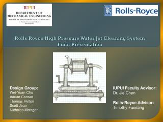 Rolls Royce High Pressure Water Jet Cleaning System  Final  Presentation