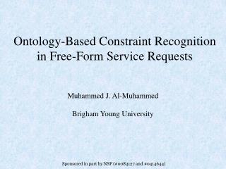 Ontology-Based Constraint Recognition in Free-Form Service Requests