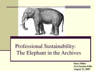 Professional Sustainability:  The Elephant in the Archives