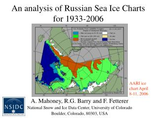 An analysis of Russian Sea Ice Charts for 1933-2006