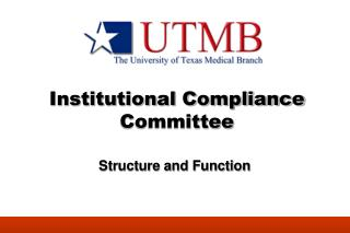 Institutional Compliance Committee