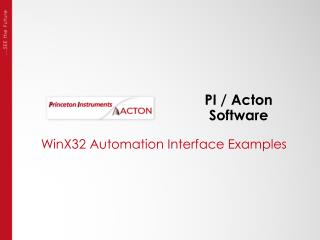 PI / Acton Software