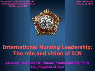 International Nursing Leadership:  The role and vision of ICN