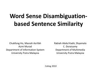 Word Sense Disambiguation-based Sentence Similarity