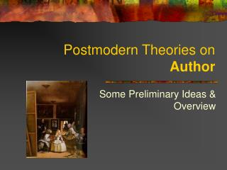 Postmodern Theories on Author