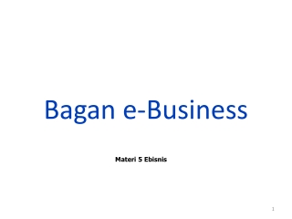 ICT in Business  Commerce