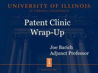Patent Clinic Wrap-Up