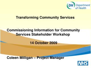Transforming Community Services